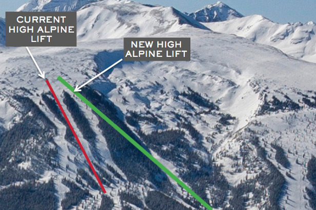Aspen Snowmass new High Alpine Lift for 2015 / 2016 ski season