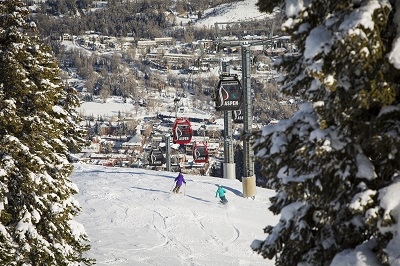 Ajax Aspen Mountain ski right back to Aspen town