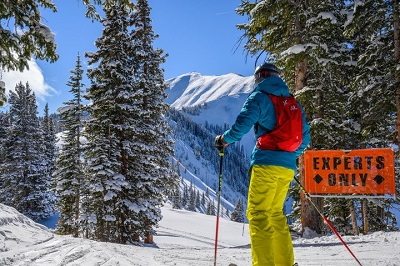 Aspen Highlands mountain Highlands bowl for expert skiers riders