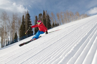 Aspen Snowmass ski resort Colorado groomed ski runs