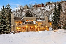 Aspen Snowmass slopeside Chateau ski chalet Aspen USA exterior Winter listing