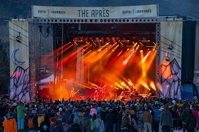Aspen apres ski concert nightlife in Aspen Snowmass resort