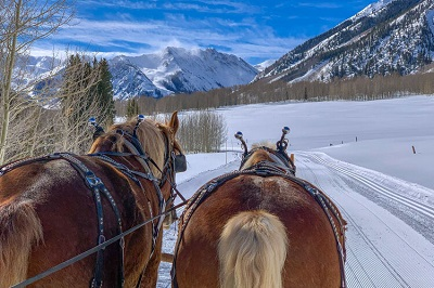 Aspen dinner sleigh ride to Pine Creek Cookhouse