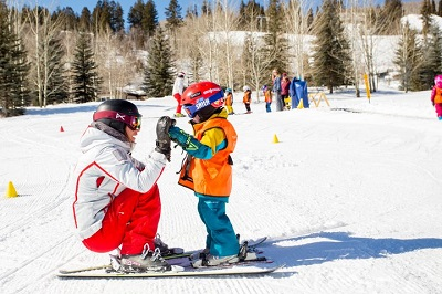 Best kids lessons Aspen Snowmass ski school in America