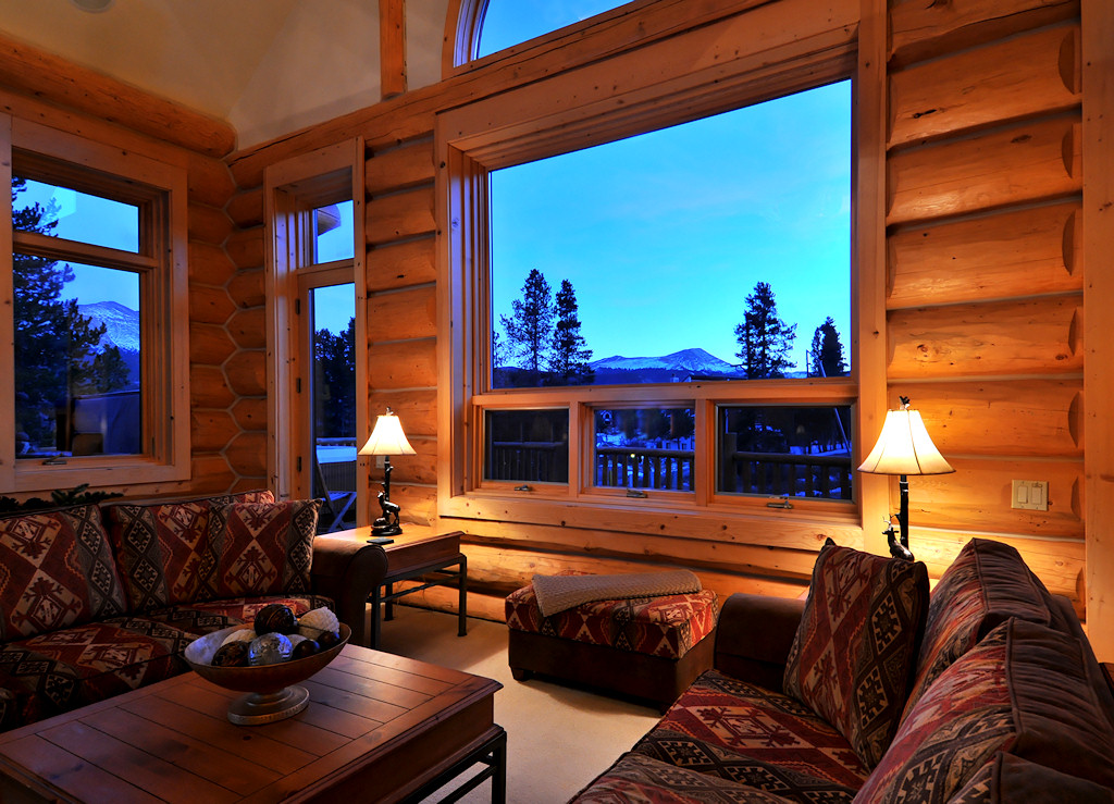 Clifton Lodge Breckenridge Colorado USA 4 Bedroom Home Ski Chalet Town Centre 12 People