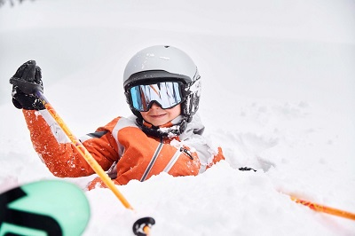 Family ski holiday in Vail kids learn to ski