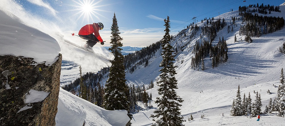 Jackson Hole ski resort USA skiing holidays at Teton Village