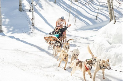 Non-skiing activities in Snowmass dog sled rides