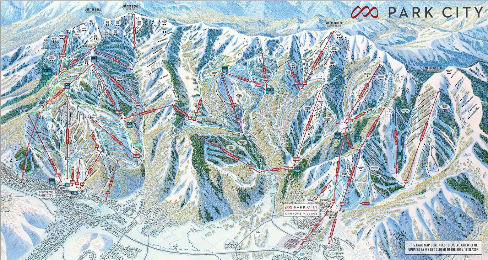 Park City To Become Biggest Ski Resort In USA - Us ski resorts map