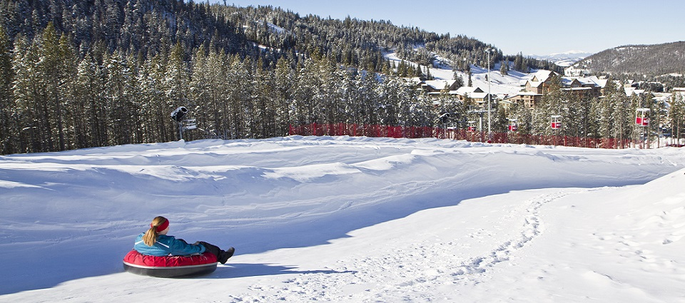 Skiing holidays at Winter Park resort kids tubing