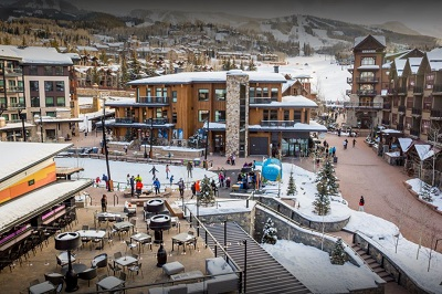 Snowmass ski resort base area phase 2 of new base village now complete