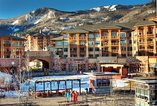 Sundial Park City canyons base area plaza listing image