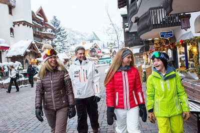 Vail Village with boutique shops art galleries