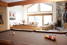 Vail catered ski chalet holidays Chalet Gleneagles Colorado USA pool table listing
