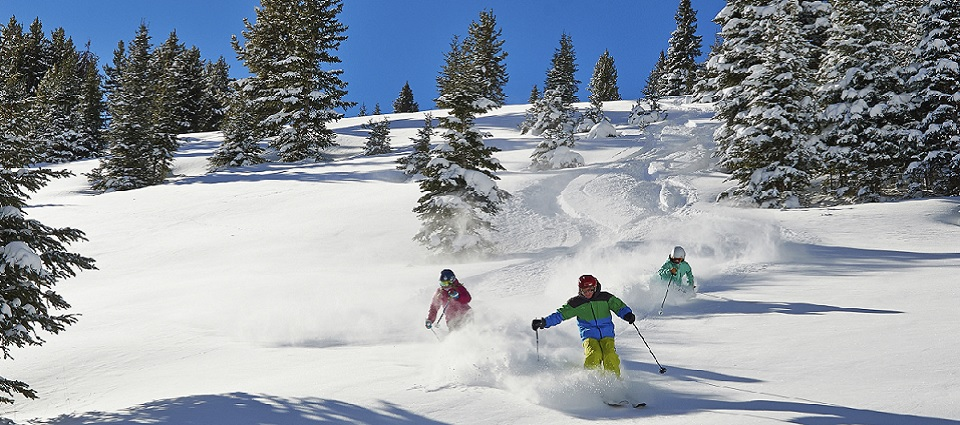 Vail ski resort snow skiing holidays Colorado USA powder