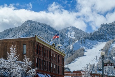 Where to ski in Colorado Aspen Mountain Ajax from Aspen town