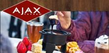 The famous Ajax Tavern at The Little Nell Hotel Aspen Colorado USA - casual dining with patio by the Aspen gondola