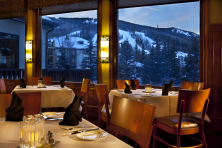 Ski in ski out accommodation Beaver Creek The Charter restaurant