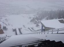 Park City Olympic Park ski jumps winter from the top