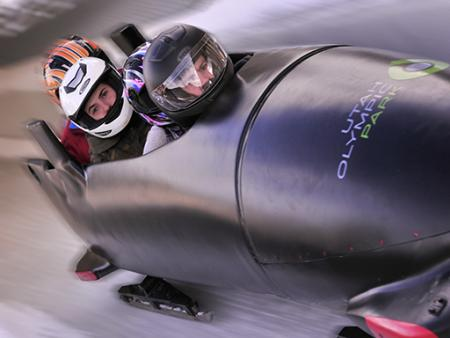 Ride the Olympic Bobsled Park City Utah USA