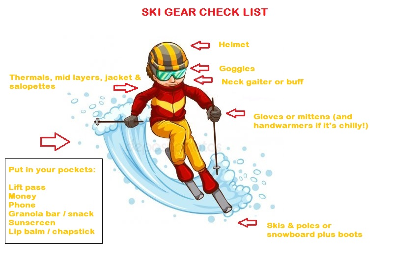Ski gear check list for your ski trip in the USA